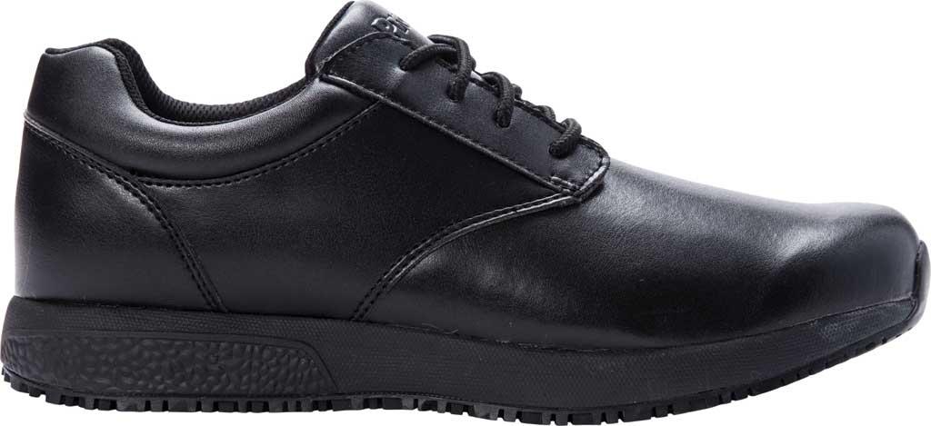 Men's Propet Spencer Sneaker, Black Leather, large, image 2