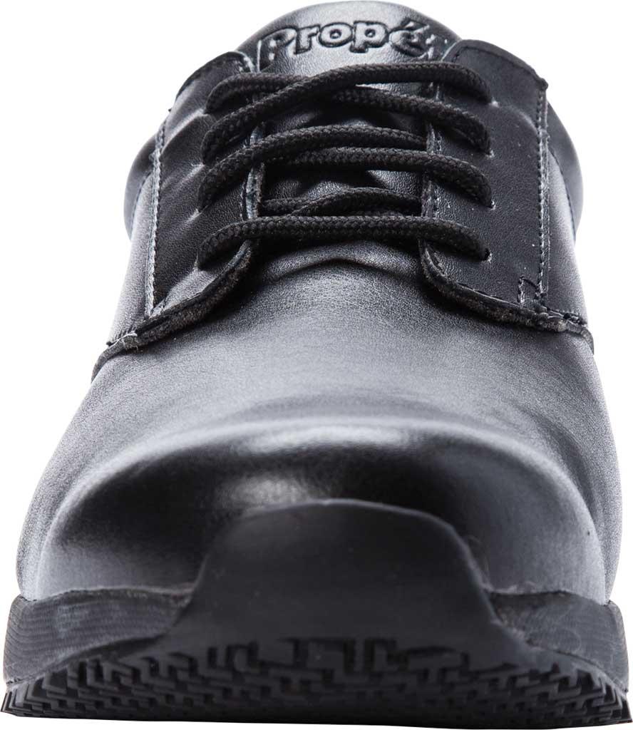 Men's Propet Spencer Sneaker, Black Leather, large, image 4