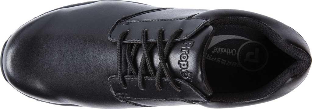 Men's Propet Spencer Sneaker, Black Leather, large, image 5