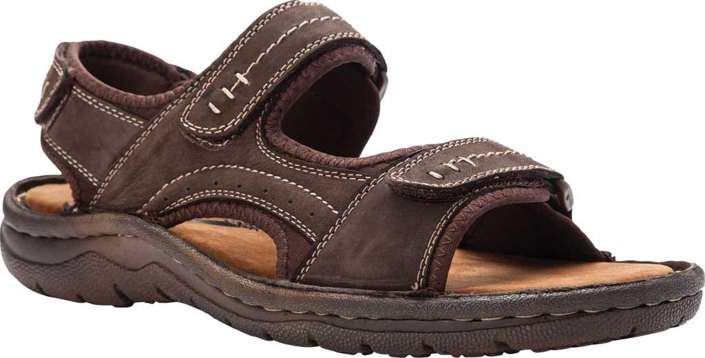 Men's Propet Jordy Walking Sandal, Coffee Waxy Nubuck, large, image 1
