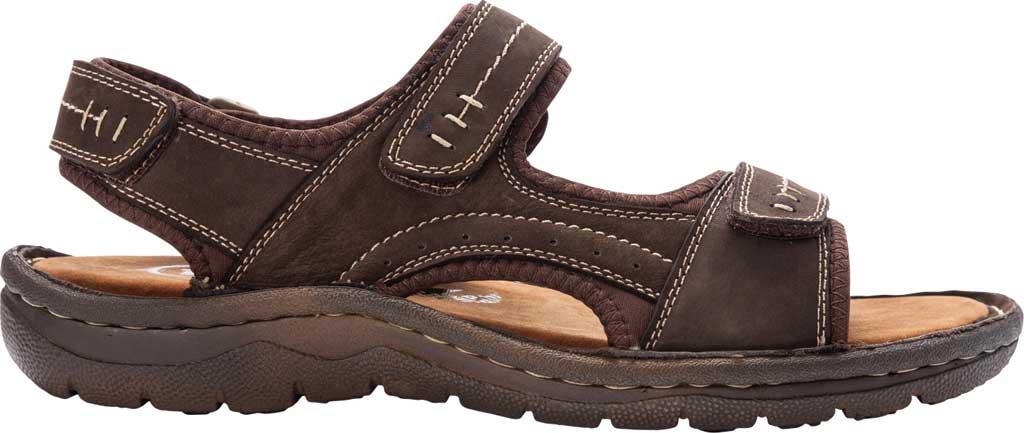 Men's Propet Jordy Walking Sandal, Coffee Waxy Nubuck, large, image 2