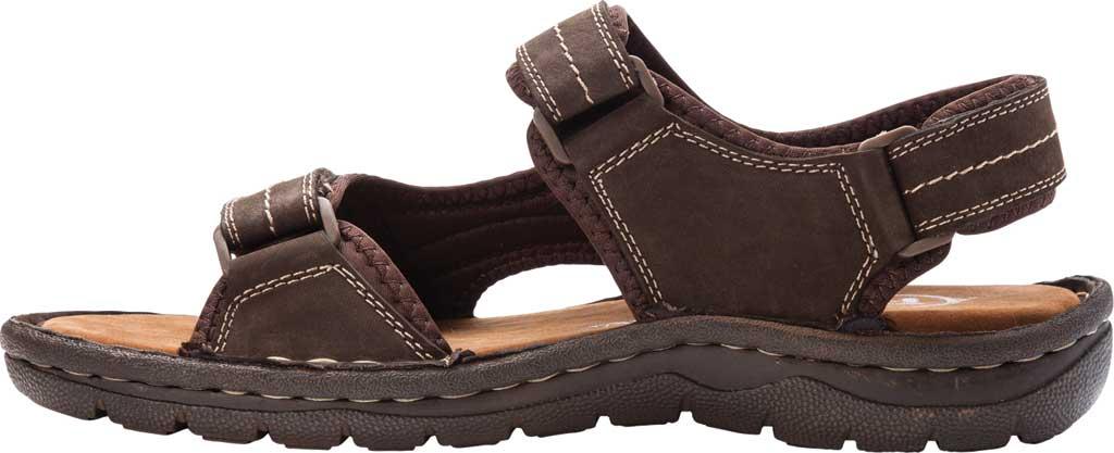 Men's Propet Jordy Walking Sandal, Coffee Waxy Nubuck, large, image 3