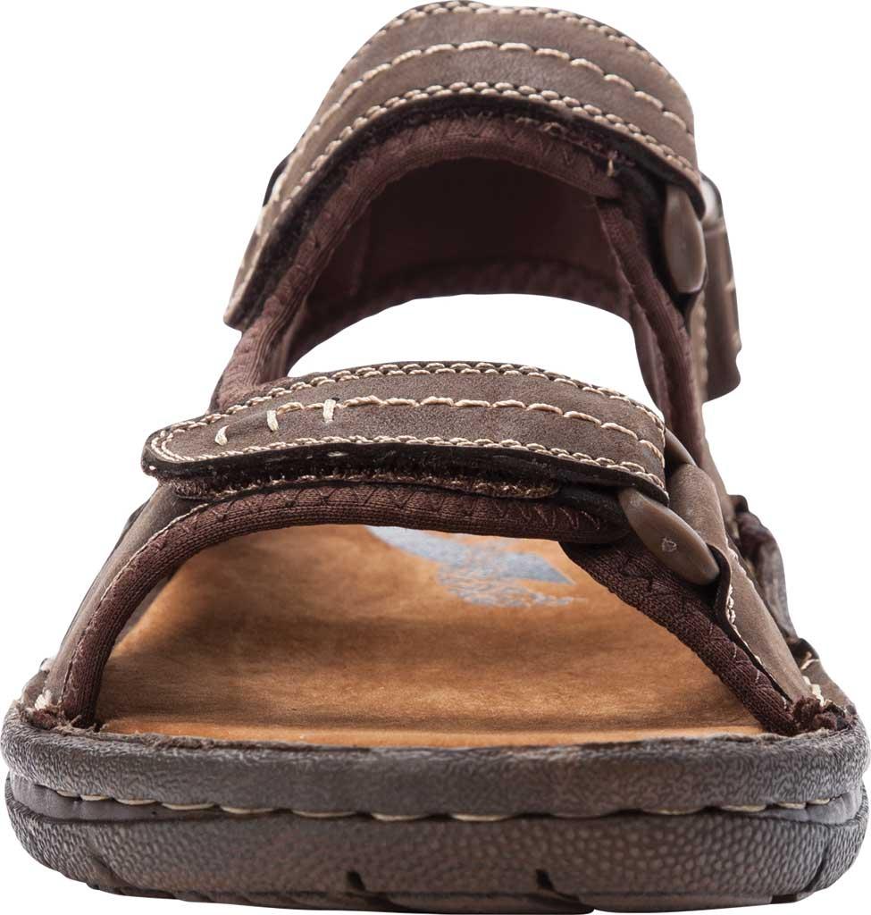 Men's Propet Jordy Walking Sandal, Coffee Waxy Nubuck, large, image 4