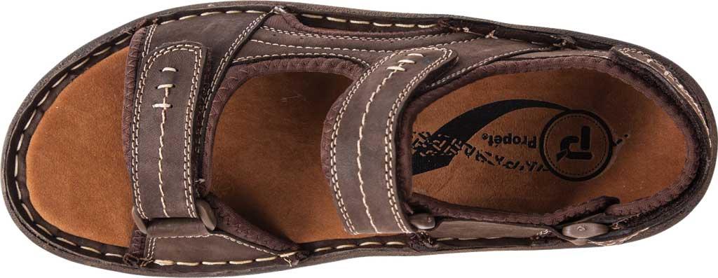 Men's Propet Jordy Walking Sandal, Coffee Waxy Nubuck, large, image 5