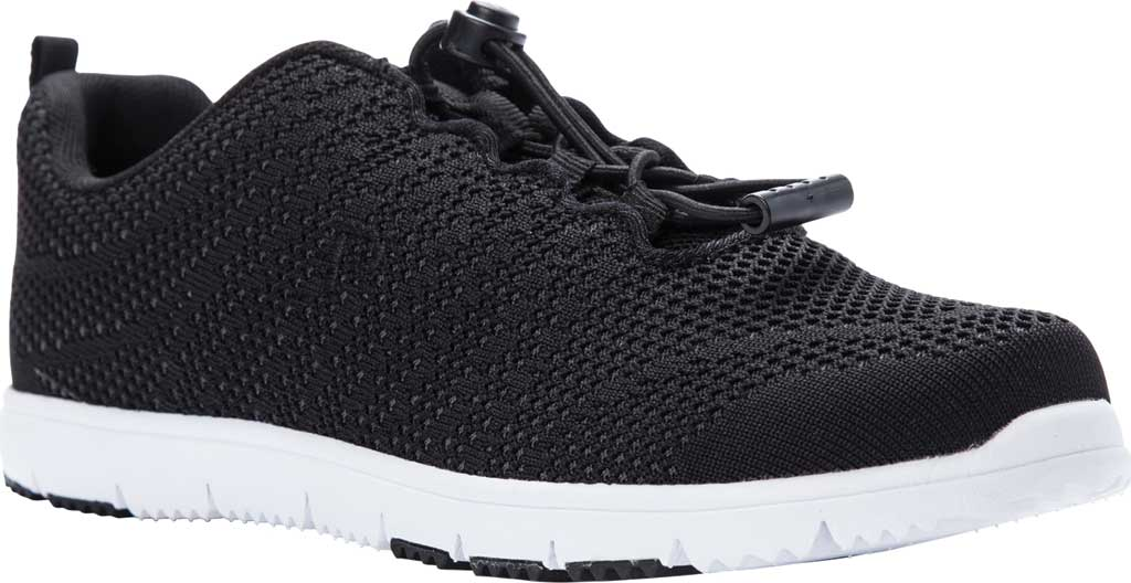 Women's Propet TravelWalker Evo Sneaker, Black Knit Mesh, large, image 1