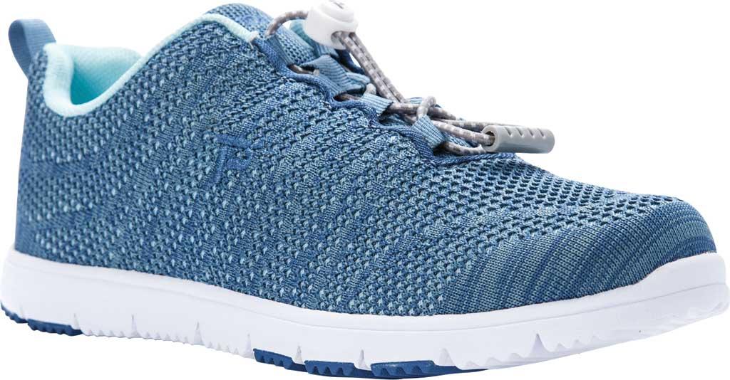 Women's Propet TravelWalker Evo Sneaker, Denim Blue/Light Blue Knit Mesh, large, image 1