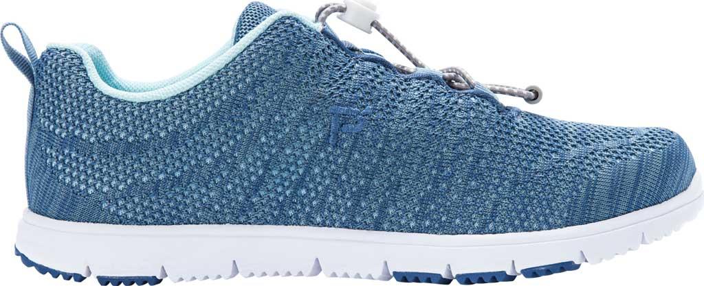 Women's Propet TravelWalker Evo Sneaker, Denim Blue/Light Blue Knit Mesh, large, image 2