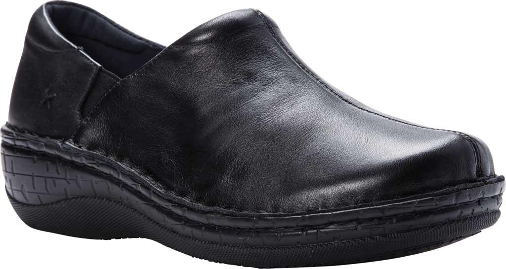 Women's Propet Jessica Closed Back Clog, Black Full Grain Leather, large, image 1