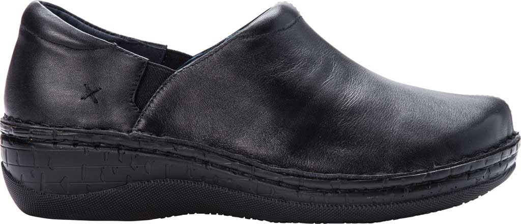Women's Propet Jessica Closed Back Clog, Black Full Grain Leather, large, image 2