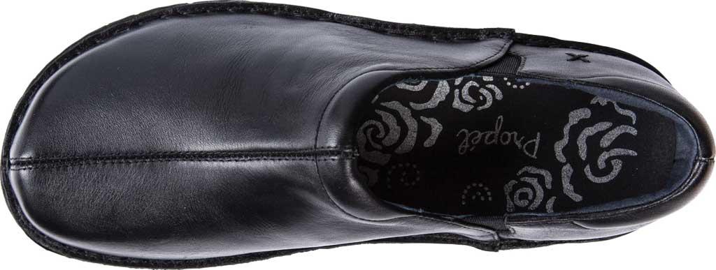 Women's Propet Jessica Closed Back Clog, Black Full Grain Leather, large, image 5