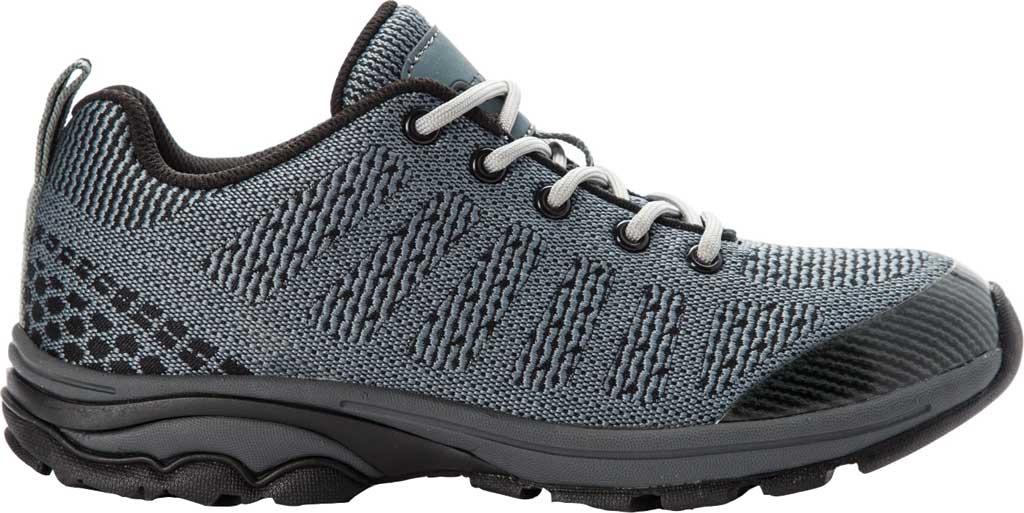 Women's Propet Petra Sneaker, Dark Grey/Black Waterproof Knit, large, image 2