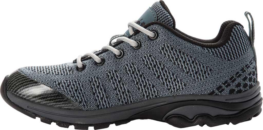 Women's Propet Petra Sneaker, Dark Grey/Black Waterproof Knit, large, image 3