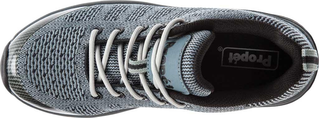 Women's Propet Petra Sneaker, Dark Grey/Black Waterproof Knit, large, image 4