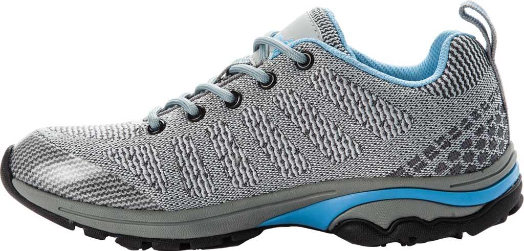 Women's Propet Petra Sneaker, Light Grey/Light Blue Waterproof Knit, large, image 3