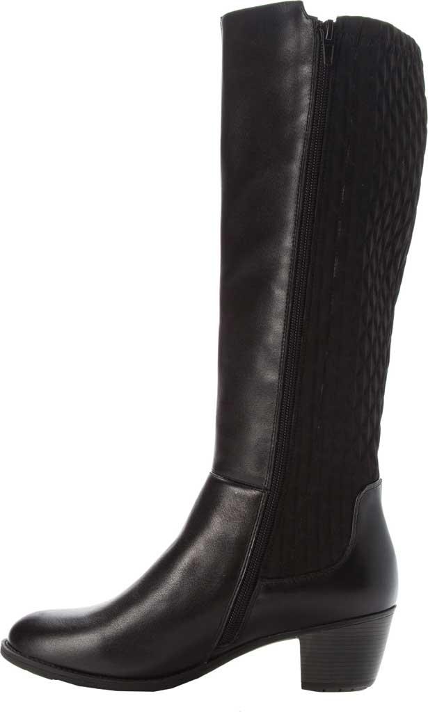 Women's Propet Talise Wide Calf Boot, Black Full Grain Leather/Neoprene, large, image 3