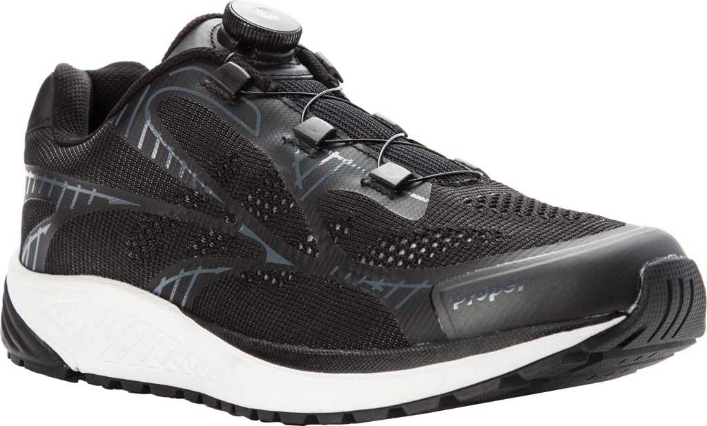 Men's Propet Propet One Reel Fit Sneaker, Black/Grey Mesh, large, image 1