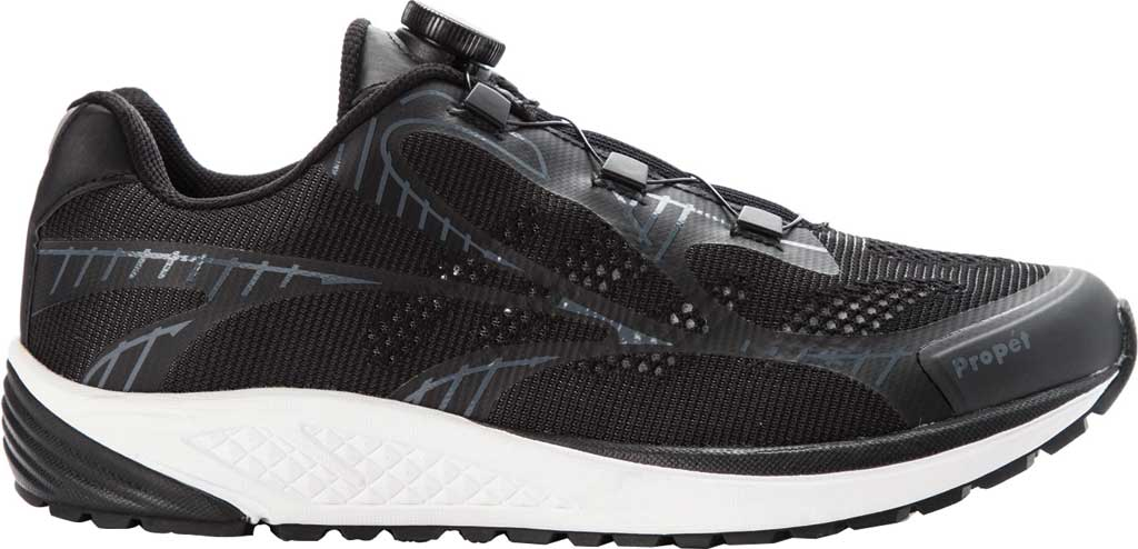 Men's Propet Propet One Reel Fit Sneaker, Black/Grey Mesh, large, image 2