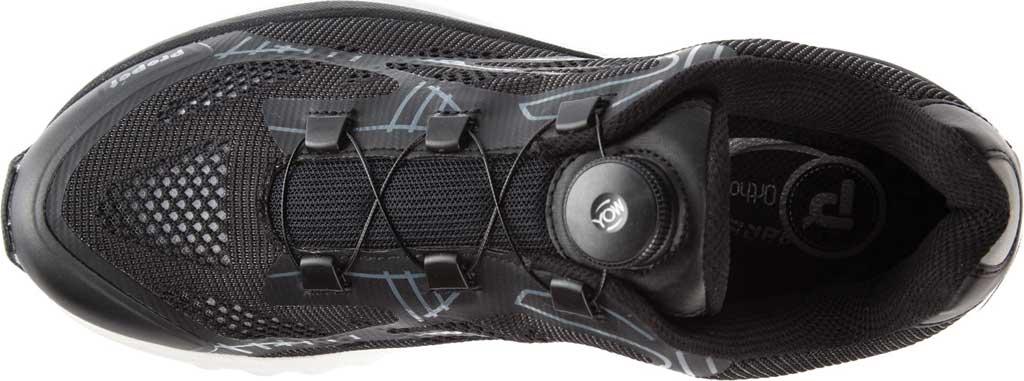 Men's Propet Propet One Reel Fit Sneaker, Black/Grey Mesh, large, image 4