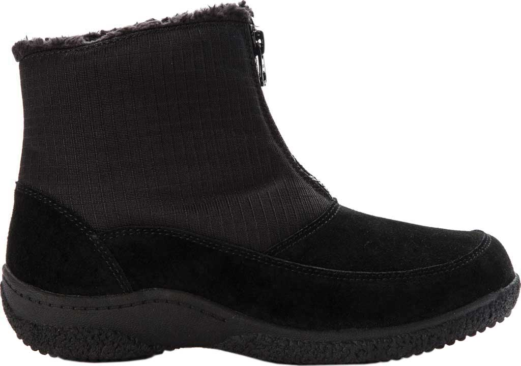 Women's Propet Hedy Waterproof Ankle Boot, Black Suede, large, image 2