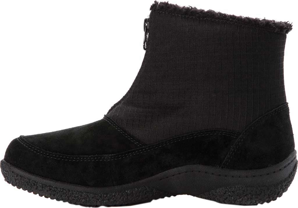 Women's Propet Hedy Waterproof Ankle Boot, Black Suede, large, image 3