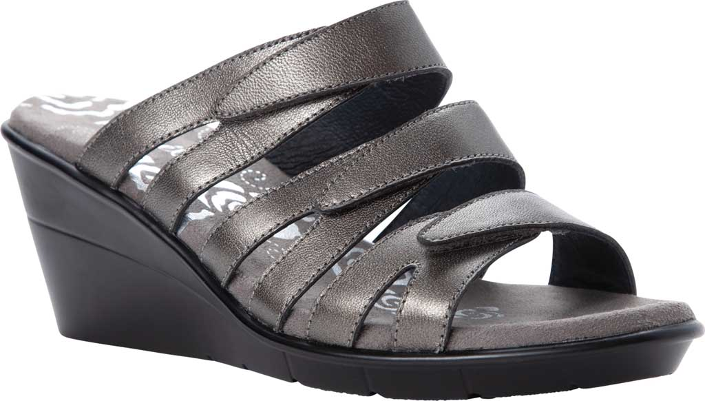 Women's Propet Lexie Strappy Wedge Slide, , large, image 1