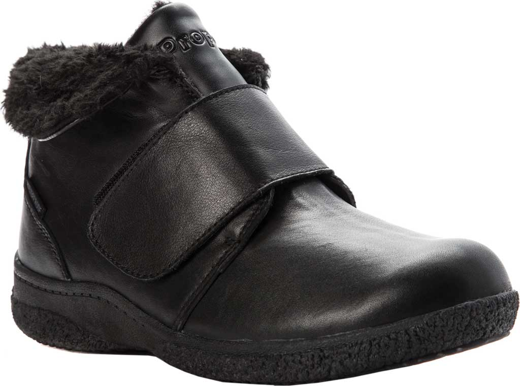Women's Propet Harlow Fur Lined Bootie, Black Leather, large, image 1