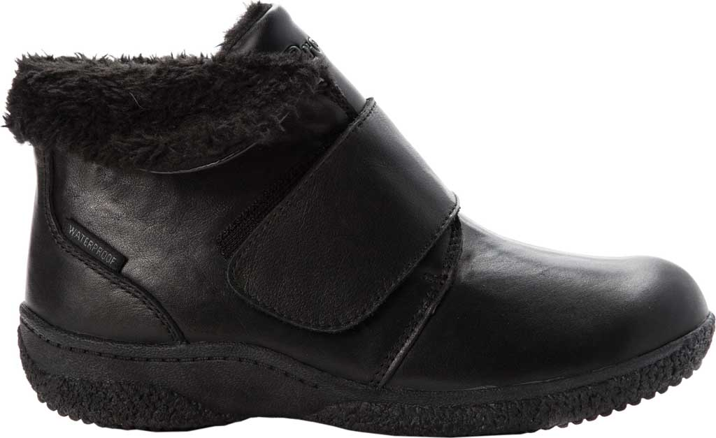 Women's Propet Harlow Fur Lined Bootie, Black Leather, large, image 2