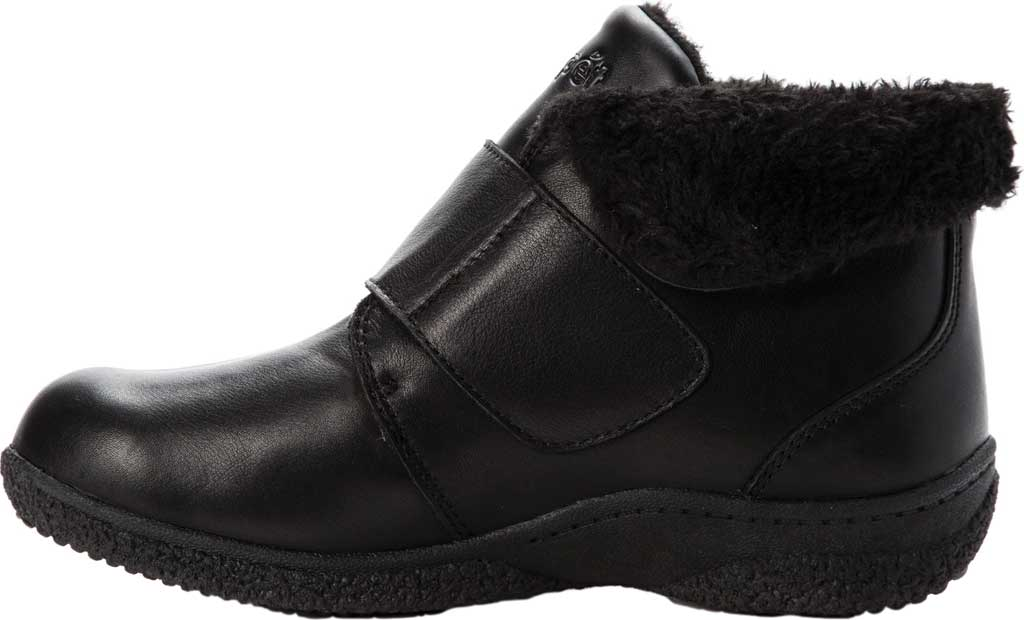 Women's Propet Harlow Fur Lined Bootie, Black Leather, large, image 3