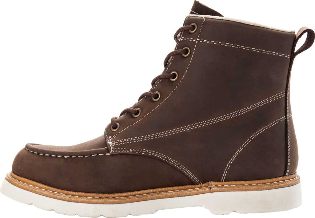 Men's Propet Watson Moc Toe Boot, Brown Crazy Horse Leather, large, image 3