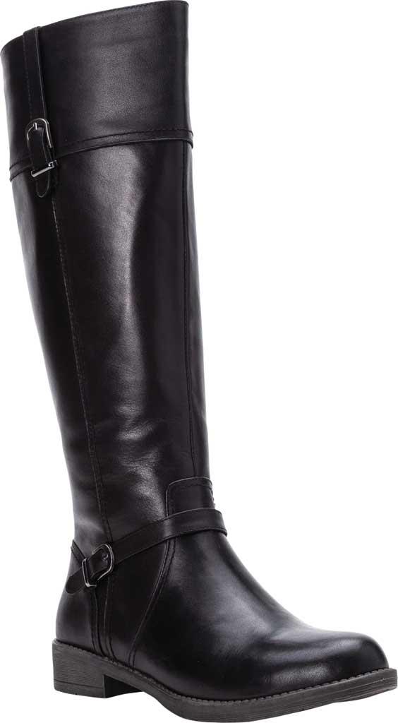 Women's Propet Tasha Knee High Boot, Black Full Grain Leather, large, image 1