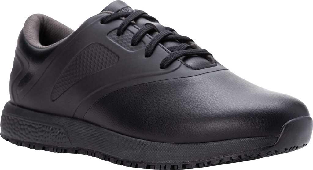 Men's Propet Slater Sneaker, Black Polyurethane, large, image 1