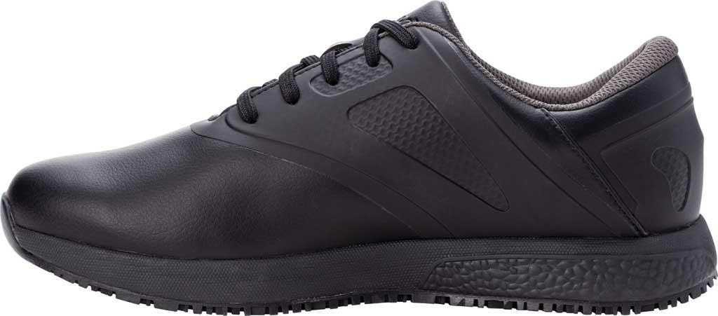 Men's Propet Slater Sneaker, Black Polyurethane, large, image 3
