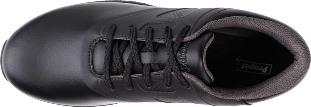Men's Propet Slater Sneaker, Black Polyurethane, large, image 4