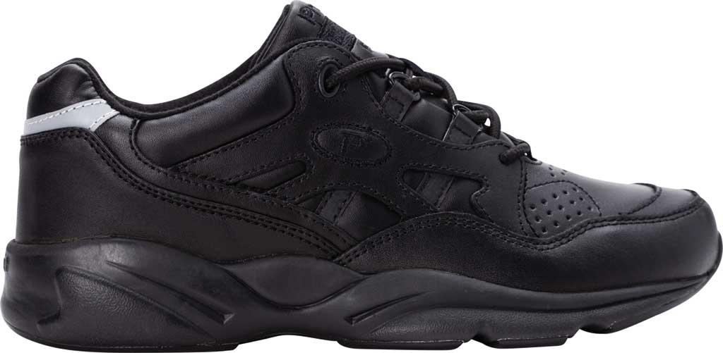 Men's Propet Stark Sneaker, Black Leather, large, image 2