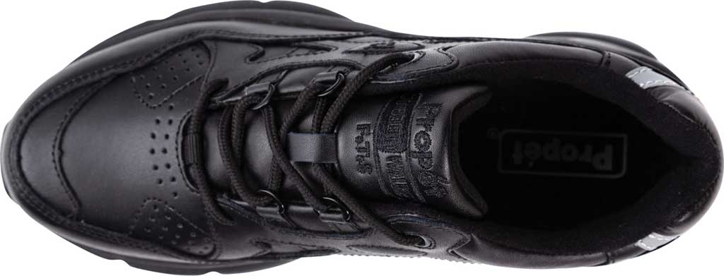 Men's Propet Stark Sneaker, Black Leather, large, image 4