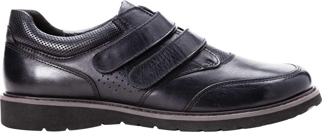 Men's Propet Garrett Strap Orthopedic Shoe, Black Full Grain Leather, large, image 2
