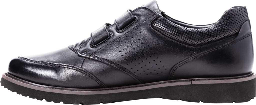 Men's Propet Garrett Strap Orthopedic Shoe, Black Full Grain Leather, large, image 3