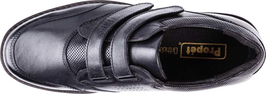 Men's Propet Garrett Strap Orthopedic Shoe, Black Full Grain Leather, large, image 4