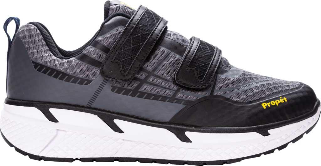 Men's Propet Ultra Strap Sneaker, Grey/Black Knit Mesh, large, image 2