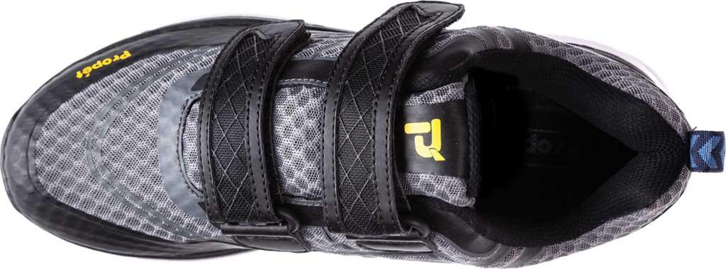 Men's Propet Ultra Strap Sneaker, Grey/Black Knit Mesh, large, image 4