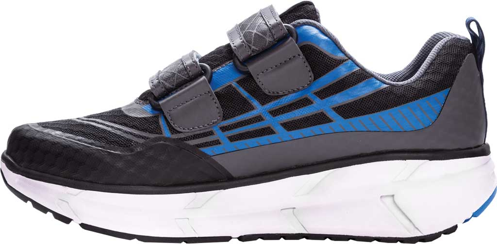 Men's Propet Ultra Strap Sneaker, Black/Blue Knit Mesh, large, image 3