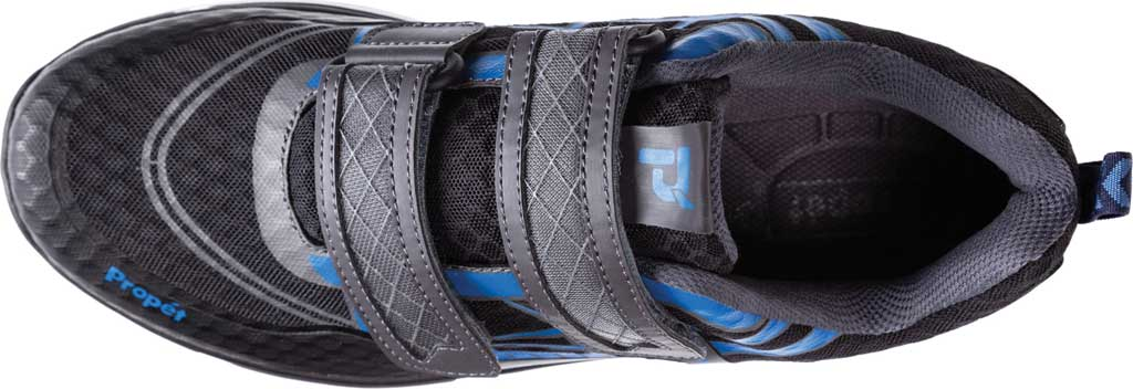 Men's Propet Ultra Strap Sneaker, Black/Blue Knit Mesh, large, image 4