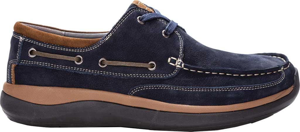 Men's Propet Pomeroy Boat Shoe, Navy Nubuck, large, image 2