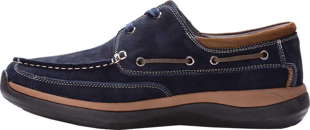 Men's Propet Pomeroy Boat Shoe, Navy Nubuck, large, image 3