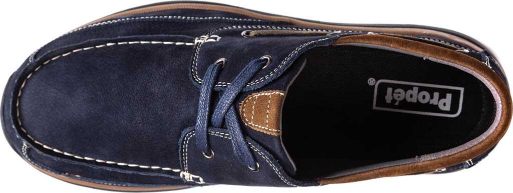 Men's Propet Pomeroy Boat Shoe, Navy Nubuck, large, image 4