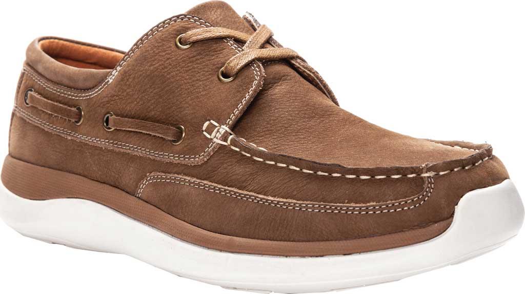 Men's Propet Pomeroy Boat Shoe, Timber Nubuck, large, image 1
