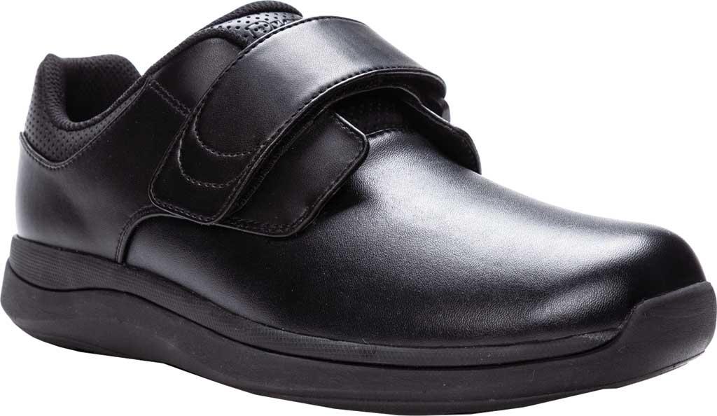 Men's Propet Pierson Strap Orthopedic Shoe, Black Leatherette, large, image 1