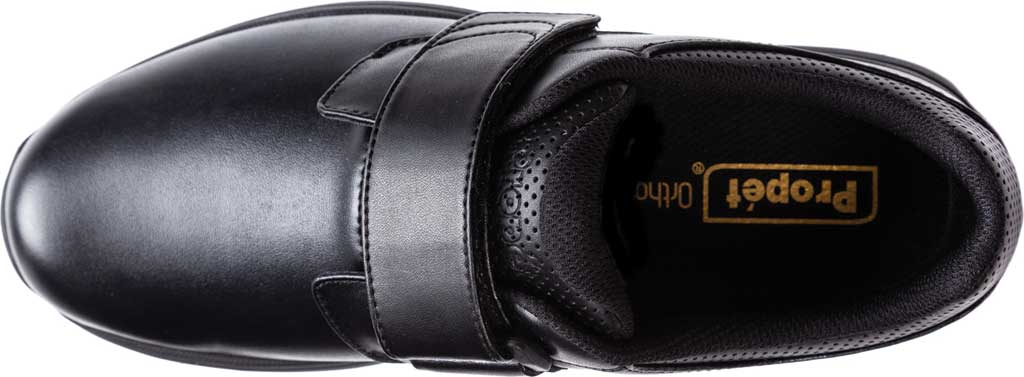 Men's Propet Pierson Strap Orthopedic Shoe, Black Leatherette, large, image 4