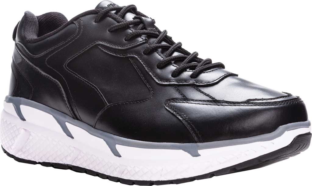 Men's Propet Ultra Sneaker, Black Leather, large, image 1