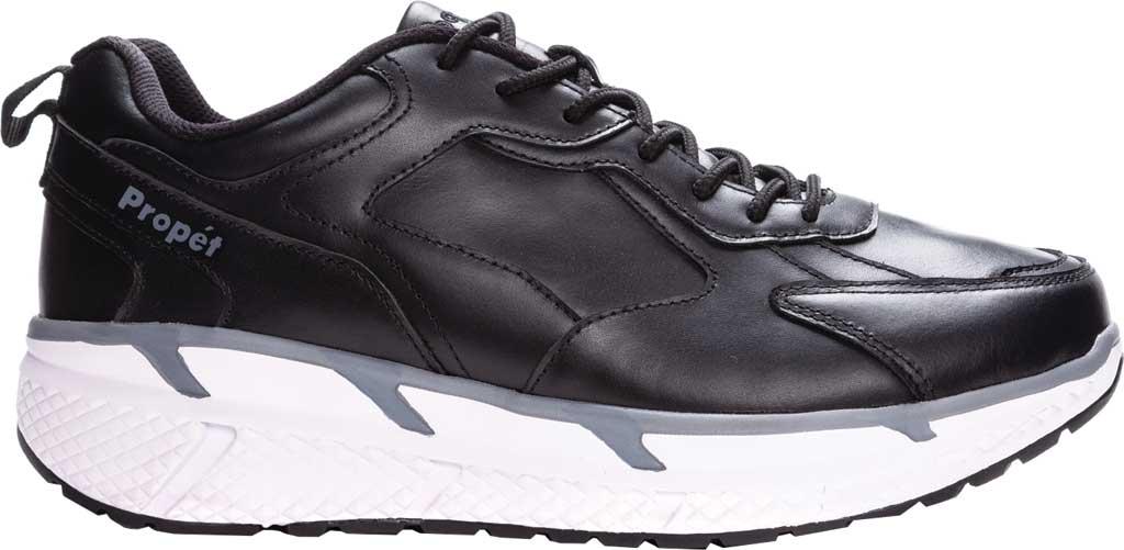 Men's Propet Ultra Sneaker, Black Leather, large, image 2